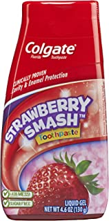 Colgate Fluoride Toothpaste Strawberry Smash Liquid Gel 4.60 oz (Pack of 1)