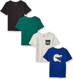 Amazon Brand - Spotted Zebra Boys' Toddler & Kids 4-Pack Short-Sleeve T-Shirts