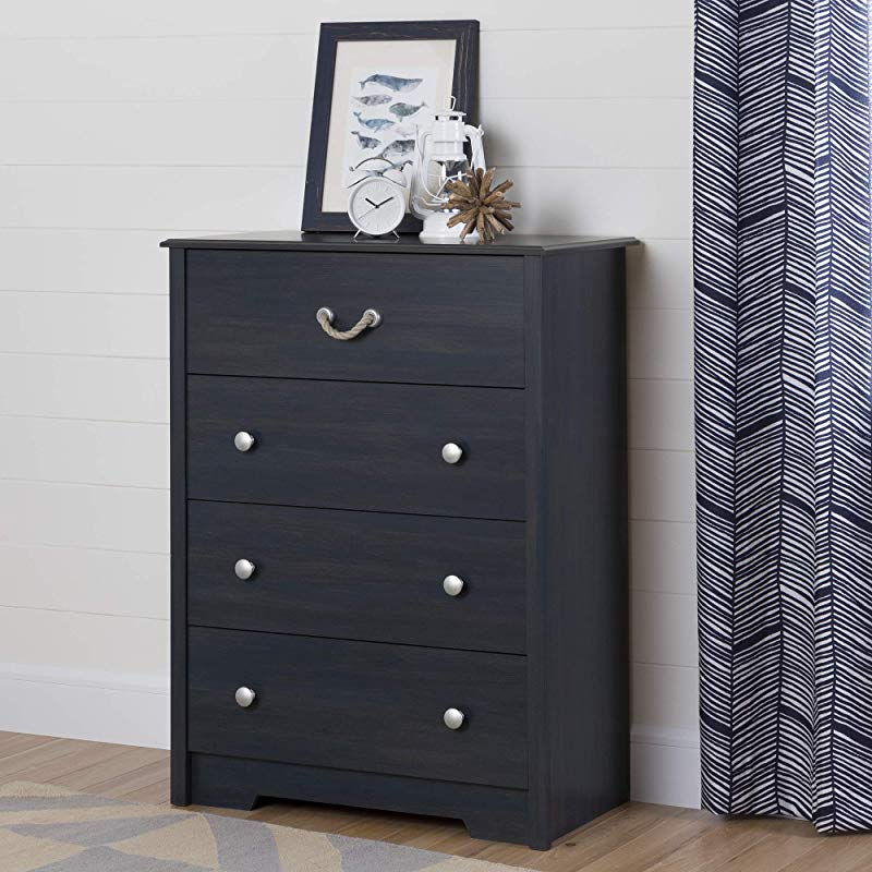 South Shore 12706 Navali 4 Drawer Chest Blueberry