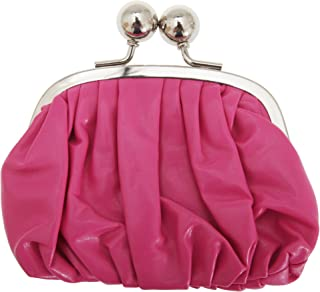 Womens/Ladies Faux Leather Coin Purse With Metal Clasp (UK Size: One Size) (Pink)