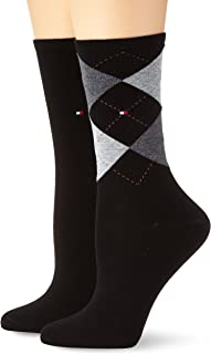 Tommy Hilfiger TH WOMEN CHECK SOCK 2P, Calze Donna