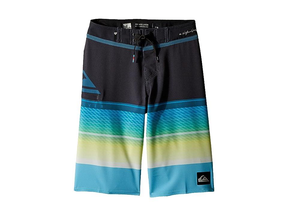 Quiksilver Kids Highline Slab Boardshorts (Big Kids) (Cyan Blue) Boy