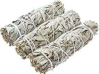 "Big Lost Goods 3 Pack, Premium White Sage Smudge Sticks, Mini Bundles 4-5"" Long, Organically Grown in California"