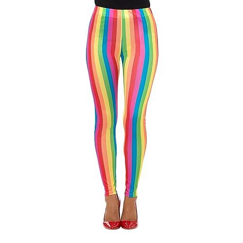 13f9bdb4a7622 Smiffys Rainbow Clown Leggings