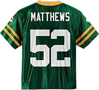 Clay Matthews Green Bay Packers #52 Green Youth Player Home Jersey