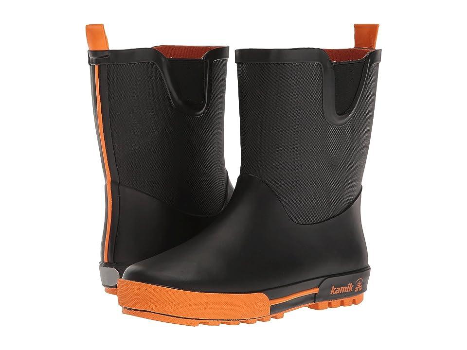 Kamik Kids Rainplay (Little Kid) (Black/Orange) Boys Shoes