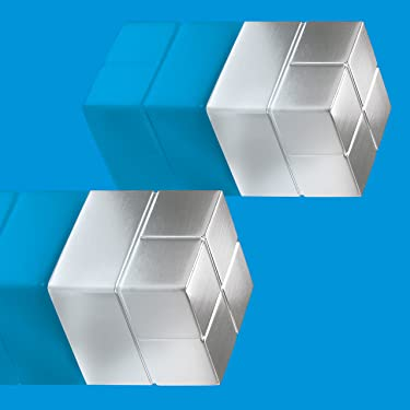"""Sigel GL706 SuperDym magnets C20""""Super-Strong"""", cube design, silver, 20x 0.79x0.79 inches, 2 pcs."""