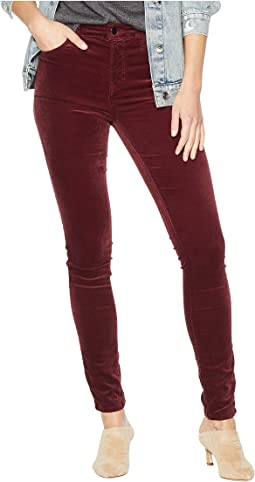Maria High-Rise Skinny in Oxblood