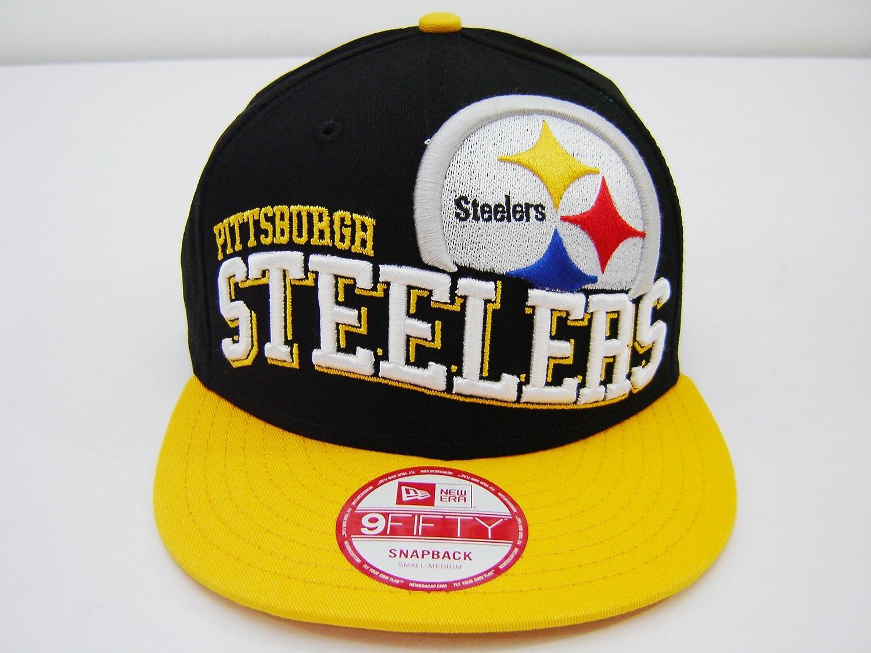 New Era NFL Pittsburgh Steelers Split Block Retro 2 Tone Snapback Cap 9fifty NewEra