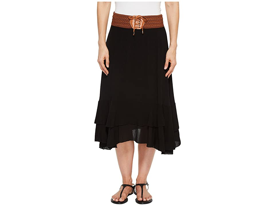 Scully Charlotte Skirt w/ Belt (Black) Women's Skirt
