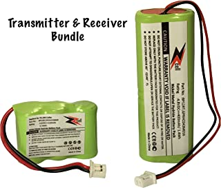 ZZcell 2-Pack Bundle Battery for Dogtra Transmitter BP12RT Receiver BP20R, 200NCP, 202NCP, 280NCP, 282NCP, 300M, 302M, 7000M, 7002M