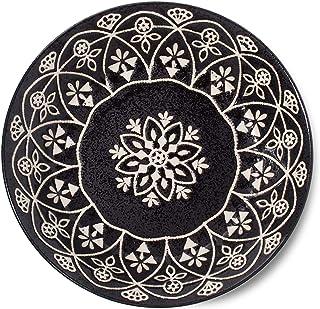 Minoru Pottery Curry Dish Marokkanisches Schwarz Durchmesser