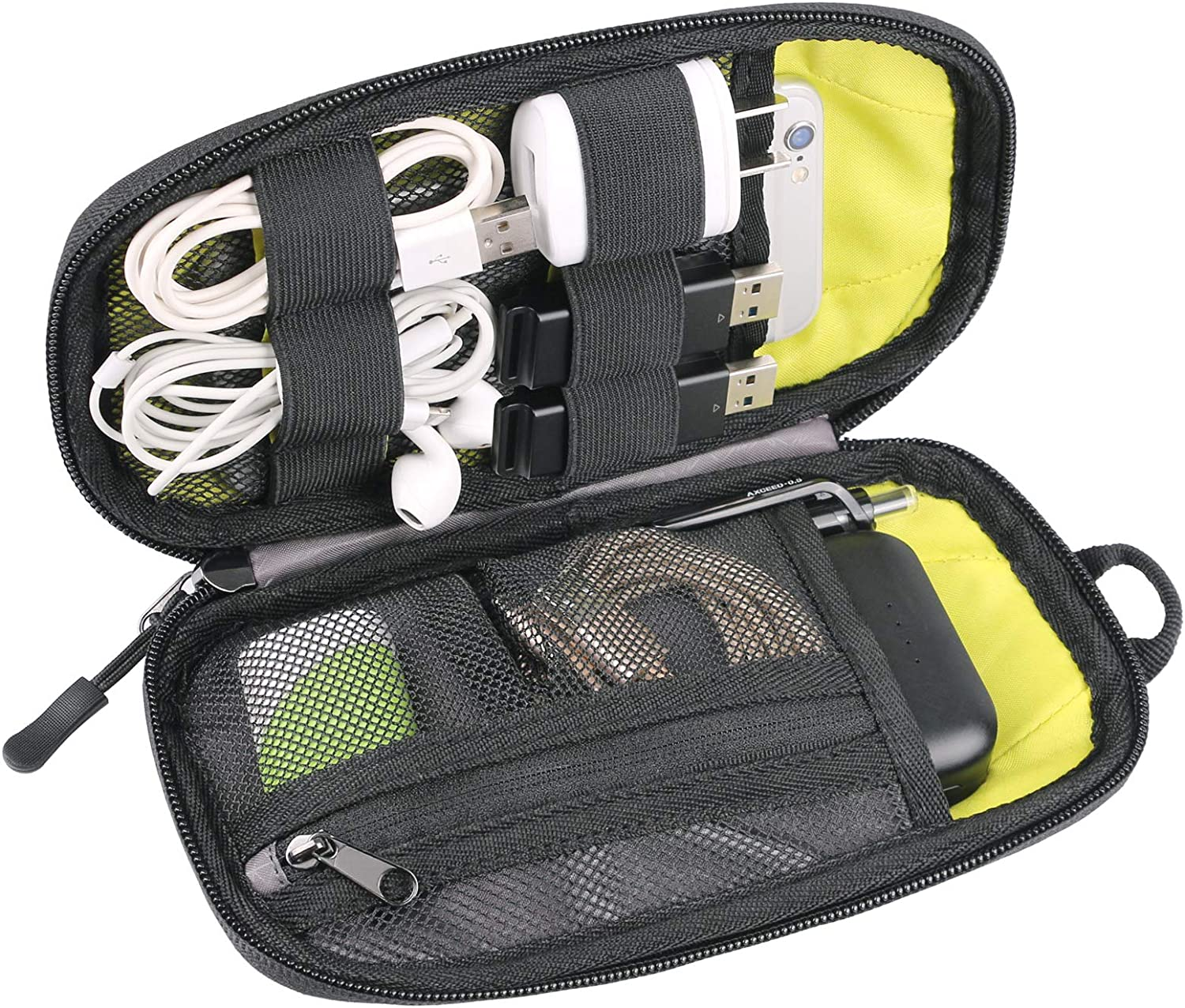 Twod Electronic Organizer Travel Universal Accessories Storage Bag Portable for Hard Drives, Cables, Memory Sticks, Charger, Phone, USB,SD Cards