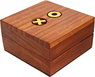 Indian Glance Wooden Tic Tac Toe Game Noughts Crosses Kids-Travel Board Brain Teaser Game - Birthday Gifts Kids