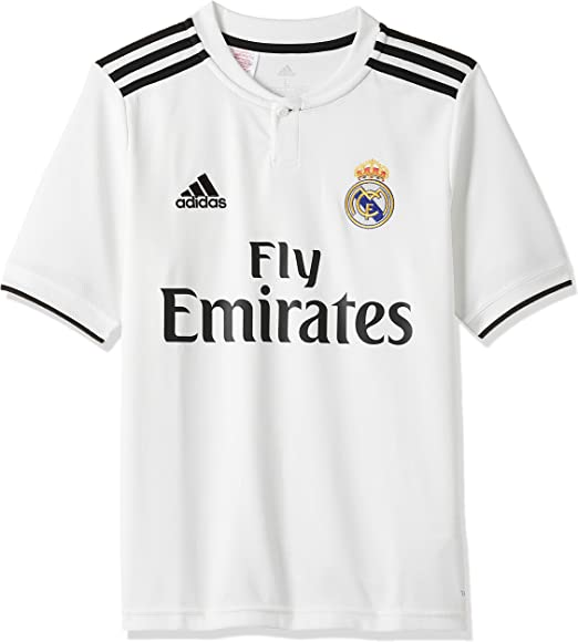 adidas Real Madrid 2018/19 Short Sleeve Home Jersey - Adult - Core White/Black