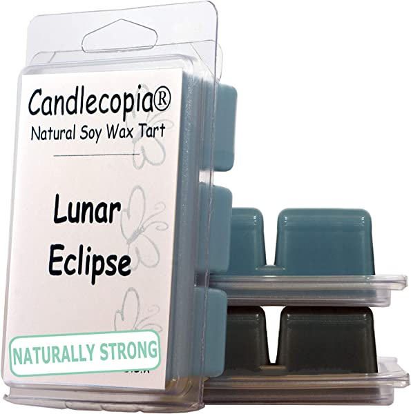 Candlecopia Stormy Nights Black Sea And Lunar Eclipse Strongly Scented Hand Poured Vegan Wax Melts 18 Scented Wax Cubes 9 6 Ounces In 3 X 6 Packs