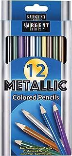 Sargent Art (SARAD) 22-7231 Metallic Colored Pencils, Assorted