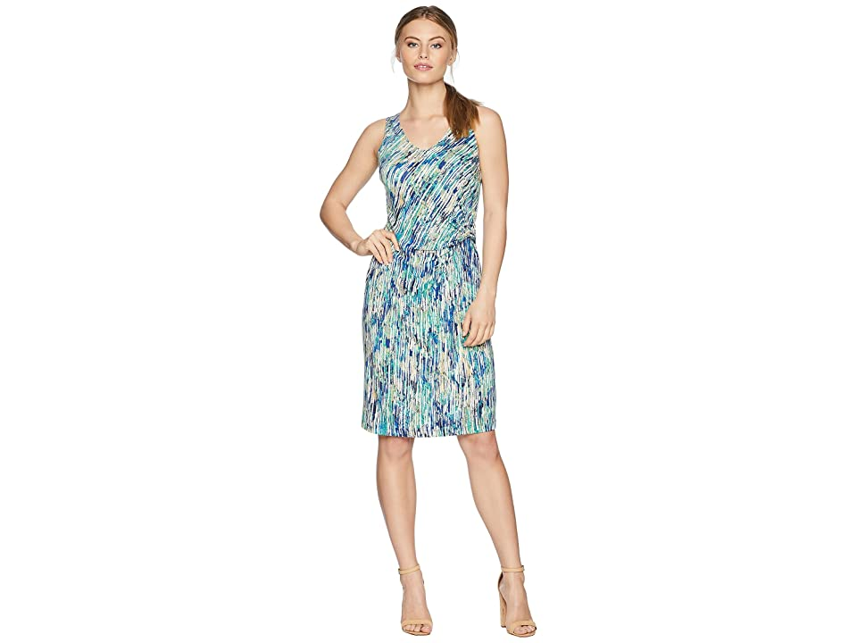 NIC+ZOE Petite Mirage Twist Dress (Multi) Women