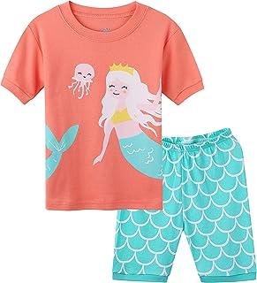 Hsctek Kid and Toddler Girls Pajamas Cotton Short Set(Toddler-9 Years)