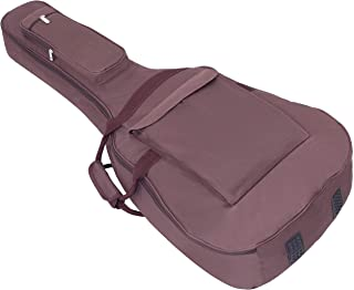 Glenmi Acoustic Guitar Case For 40'' 41'' Guitars 0.5 Inch Extra Foam Thick Padding Dark Brown Guitar Bag with Neck Pillow