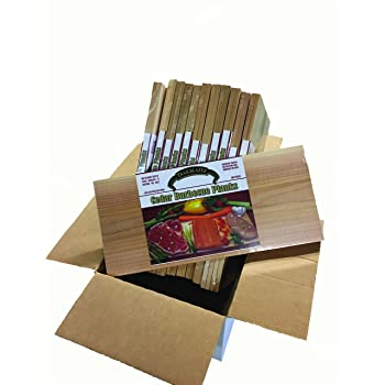 """Case of Gourmet Cedar Grilling Planks (15"""" x 7"""" x 3/8"""") 12-2 Packs Packaged for Resale (24 Boards Total)"""