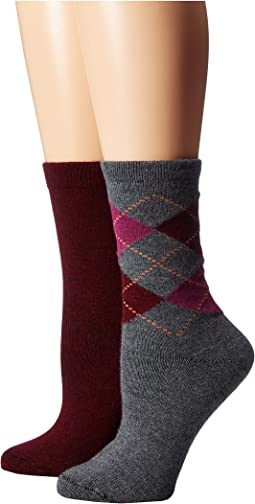 Argyle Boot Socks 2-Pair Pack