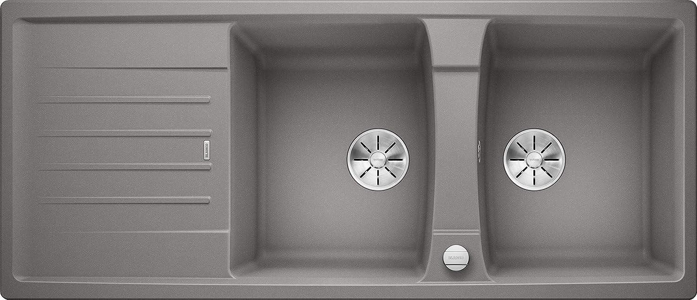 Weiß 524972 Lexa 8 S Küchenspüle, alumetallic, 80 cm Unterschrank