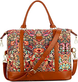 BAOSHA HB-28 Women Ladies Travel Weekender Bag Overnight Carry-on in Trolley Handle (Colour)