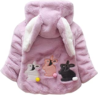 M RACLE Baby Girls' Kids Toddler Winter Warm Outerwear Snowsuit Coats Jackets