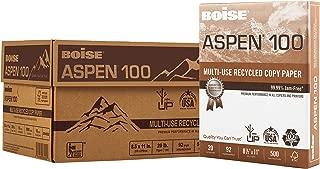 "$47 » BOISE ASPEN 100% Recycled Multi-Use Copy Paper, 8.5"" x 11"", Letter, 92 Bright, 20 lb, 10 Ream Carton (5,000 Sheets)"