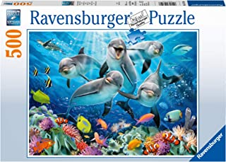 Ravensburger - 14710 - Puzzle Dauphins sur récif Corail - 500 pièces