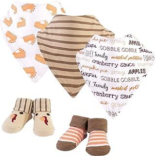 Hudson Baby Unisex Baby Bandana Bibs and Socks