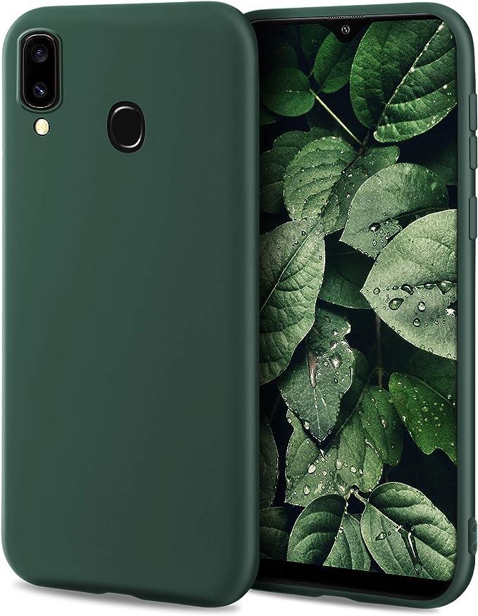 139 opiniones para Moozy Minimalist Series Funda Silicona para Samsung A40, Verde Oscuro con