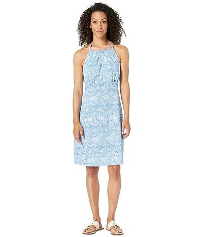Columbia Armadaletm II Halter Top Dress (Vivid Blue/Wave Leaves) Women