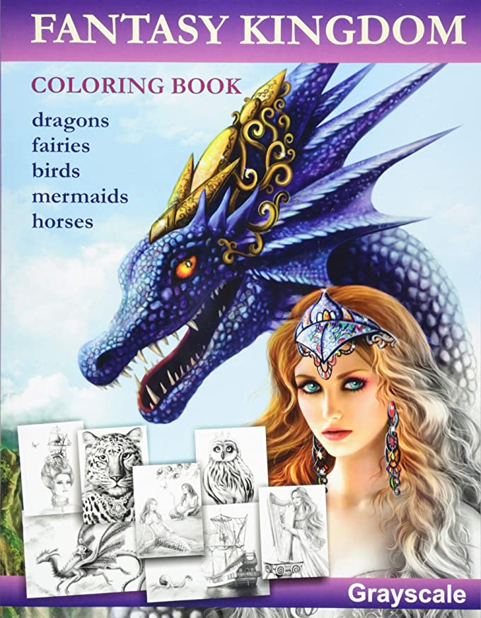 消費送料金曜日Fantasy Kingdom. Grayscale Adult coloring book