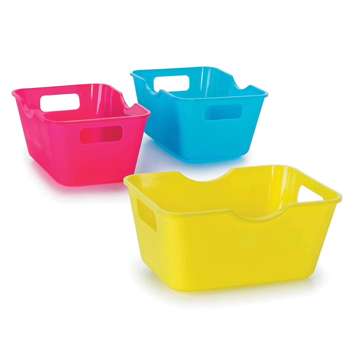 Darice Crafter's Toolbox Mini Colorful Storage Bins - 4 x 2.75 inches - 3 pieces