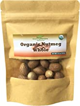 Organic Whole Nutmeg (3.5 oz), Premium Grade, Harvested & Packed from a USDA Certified Organic Farm in Sri Lanka (stand up...