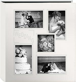 البوم صور بغطاء جلدي مخيط واطار منقوش يحتوي عدة اقسام للصور من بايونير، لون عاجي
