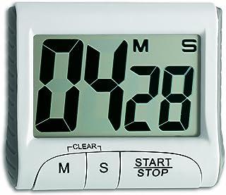 TFA 38.2021 - Cuentaminutos con cronómetro electrónico, Color Blanco