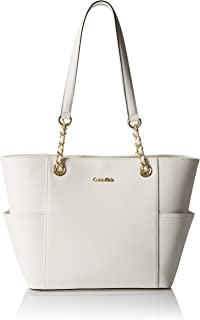 Calvin Klein Womens Key Item Saffiano Leather Tote