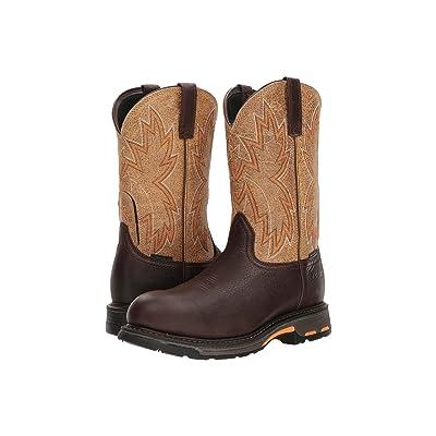 Ariat Workhog Raptor Composite Toe (Chocolate/Crazy Tan) Cowboy Boots