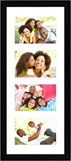 Americanflat Black Collage Picture Frame with 4 Openings - Made for 4x6-inch Photos - Perfect As a Family Collage Picture Frame or for Vacation Memories