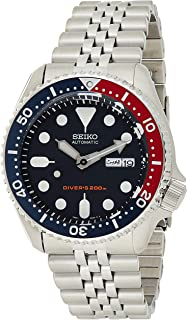 Men's SKX009K2 Diver's Analog Automatic Stainless Steel Watch