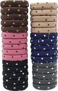 Evogirl Rubberband 日常穿着小*弹性领带无金属马尾辫,基础英式窗帘 Polkadot S 码适合女士/女孩