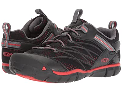 Keen Kids Chandler CNX (Little Kid/Big Kid) (Raven/Fiery Red) Boys Shoes