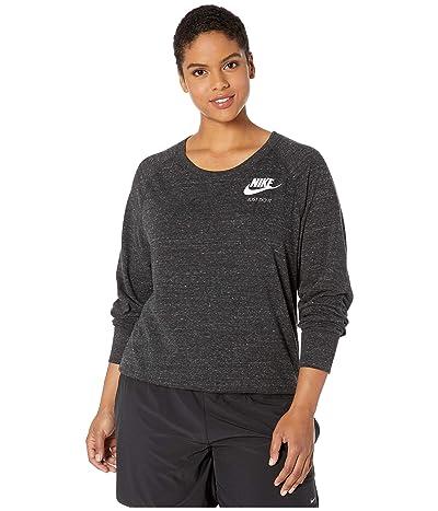 Nike Plus Size NSW Gym Vintage Crew (Black/Sail) Women