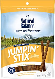 Sponsored Ad - Natural Balance L.I.D. Limited Ingredient Diets Jumpin' Stix Dog Treats, Grain Free (Packaging May Vary)
