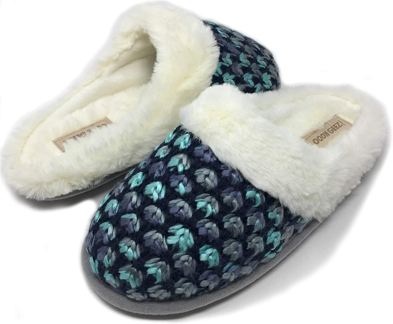Women's Cozy Slippers, Oooh Yeah Sherpa Funny Fluffy Fuzzy Slippers, Slip-On Slippers, Comfy Soft House Slippers