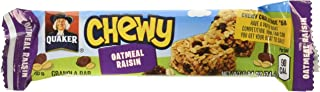 Quaker Chewy Granola Bars, Oatmeal Raisin, 8 Count per pack, 6.7 Ounce, Pack of 12