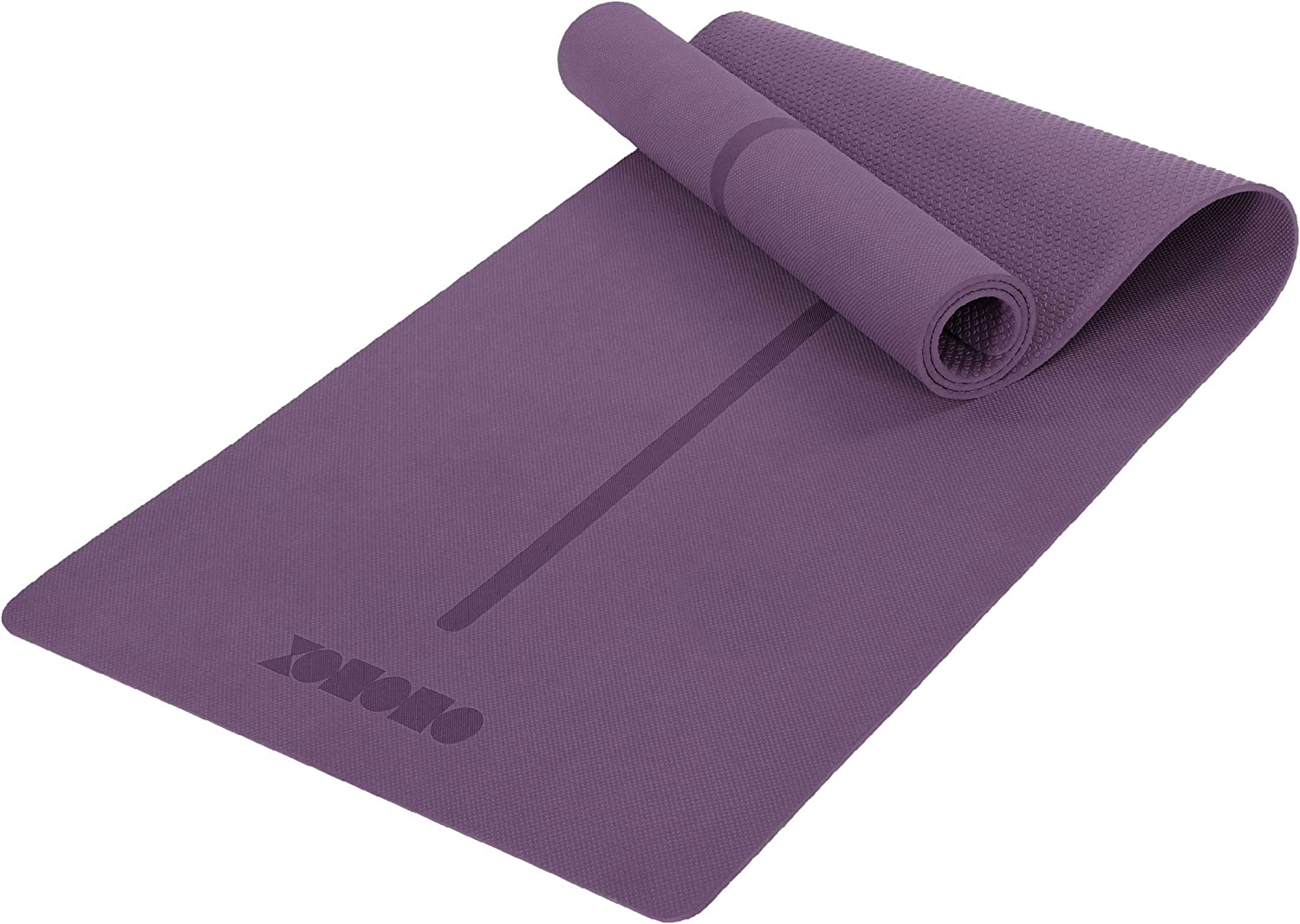 ODODOS Yoga Mat with Strap Eco Friendly Great interest Dou TPE Thick Mats Cheap bargain